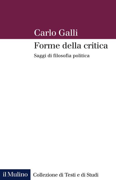 Cover Forme della critica